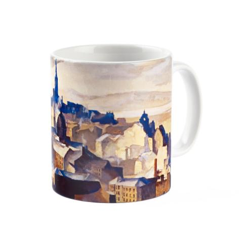Edinburgh (from Salisbury Crags) by William Crozier ceramic mug