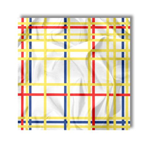Mondrian New York City silk scarf