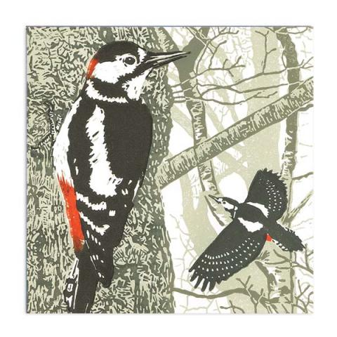 The rhythm of the wild wood greeting card