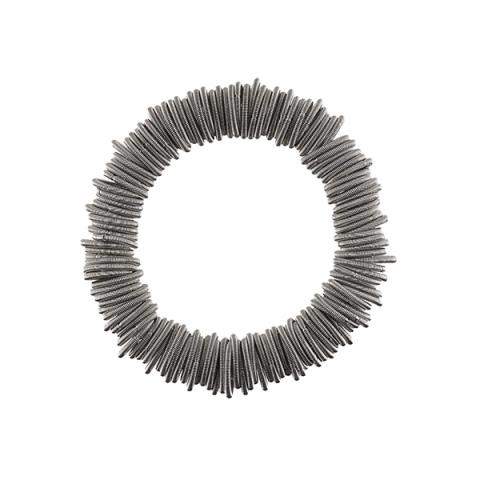 Odessa silver spring wire bracelet