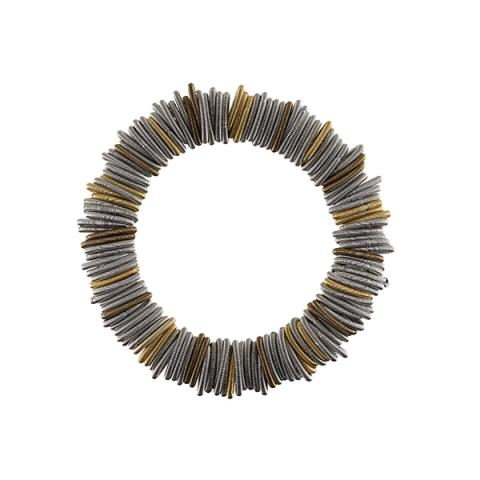 Odessa silver and gold spring wire bracelet