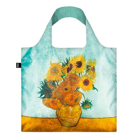 Vase with Twelve Sunflowers by Vincent van Gogh reusable water-resistant carrier bag