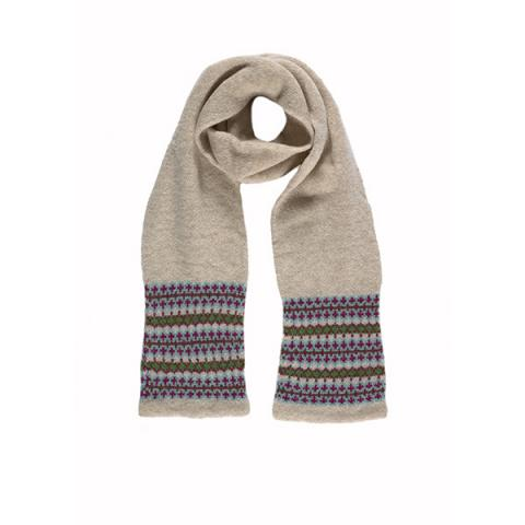 100% pure new wool Lewis oat scarf