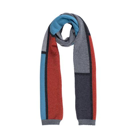 100% pure new wool collage primary scarf