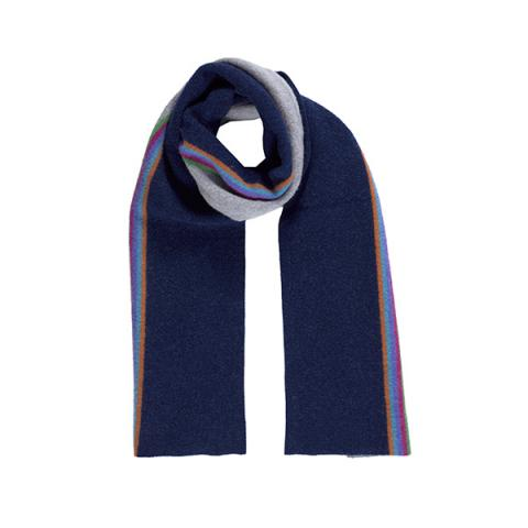 100% pure new wool maxwell midnight blue scarf