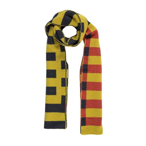 100% pure new wool Bauhaus mimosa scarf
