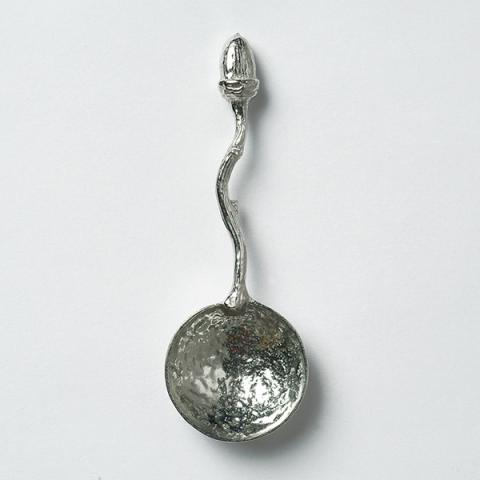 Pewter hand-crafted acorn spoon