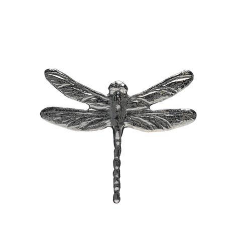 Silver pewter handmade dragonfly brooch