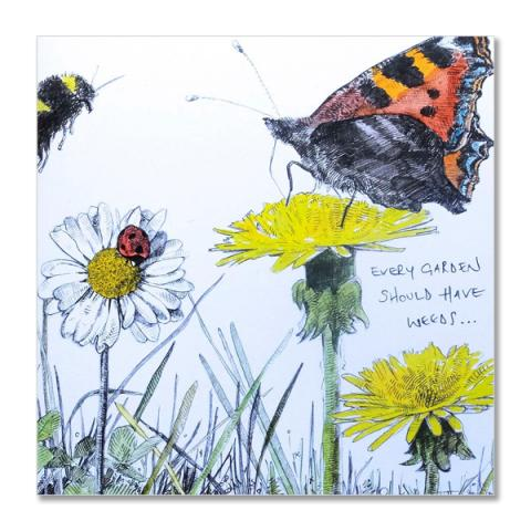 Weeds greeting card by Hannah Longmuir