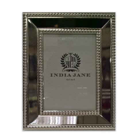 Decorative silver-plated photo frame (21.5 x 16 cm)