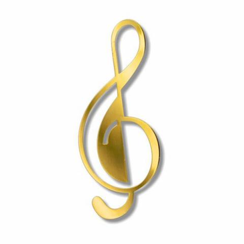 G-Clef music symbol brass bookmark