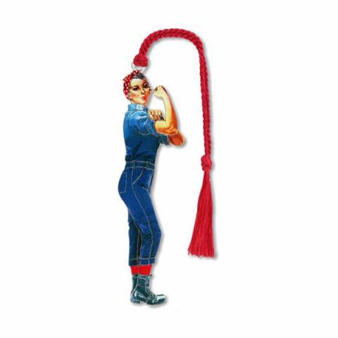 Rosie the riveter brass bookmark