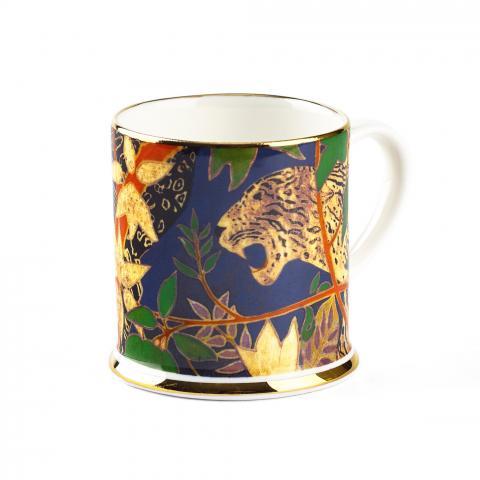 Leopard Blue Espresso Tankard