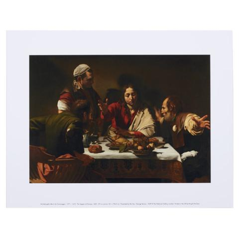 Supper at Emmaus Caravaggio Art Print