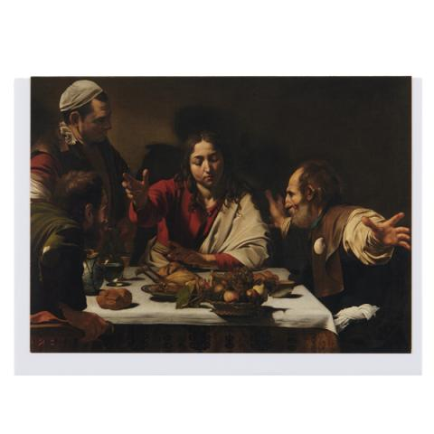 Supper at Emmaus Caravaggio Greeting Card