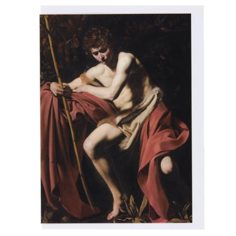 St John the Baptist Caravaggio Greeting Card