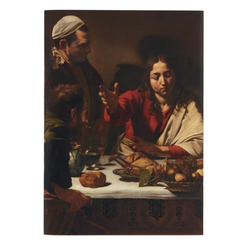 Supper at Emmaus Caravaggio A5 Sketchpad