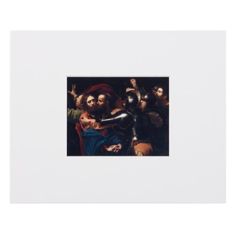 The Taking of Christ Caravaggio Mounted Postcard