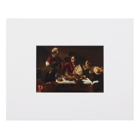 Supper at Emmaus Caravaggio Mounted Postcard