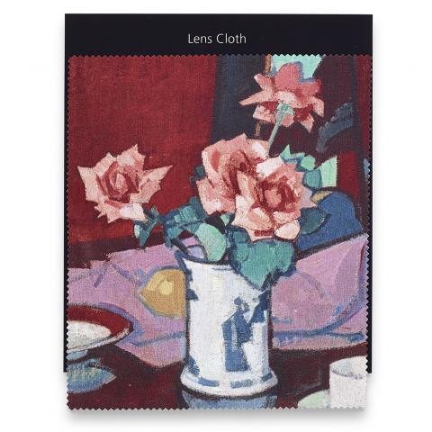 Pink Roses, Chinese Vase Samuel John Peploe Lens Cloth