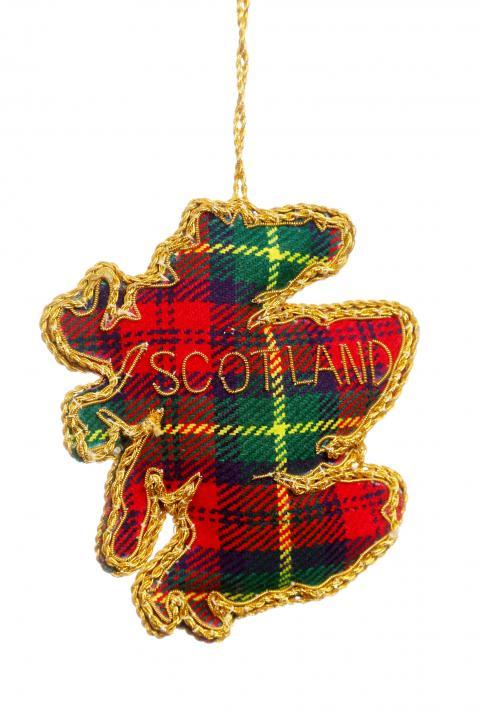 Tartan Outline of Scotland Decoration