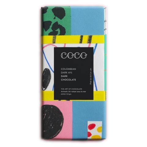 Colombian dark chocolate bar
