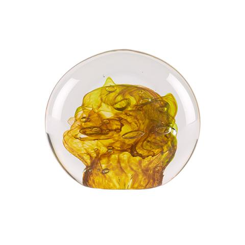 Orange and yellow sea handmade paperweight