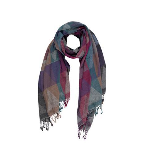 100% merino wool triangle pattern scarf