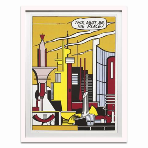 This Must Be the Place by Roy Lichtenstein framed limited edition print