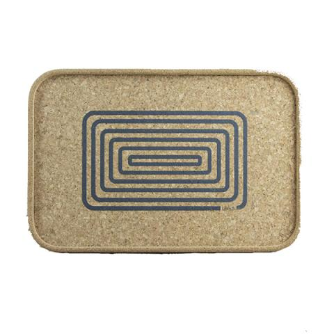 Grey orbit cork tray