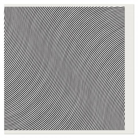 Over Bridget Riley Greeting Card