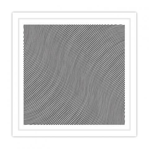 Over Bridget Riley Print White Frame