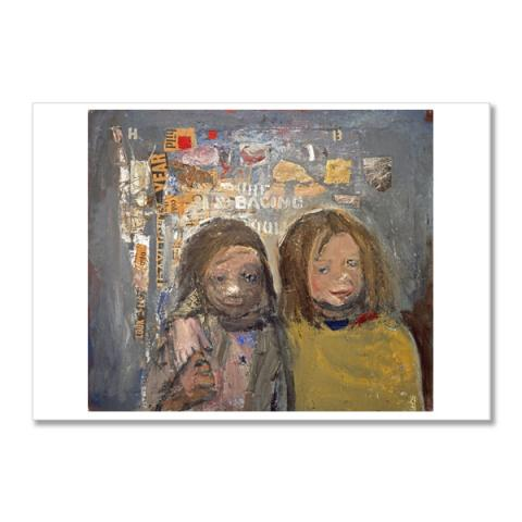 Children and Chalked Wall 3 by Joan Eardley postcard