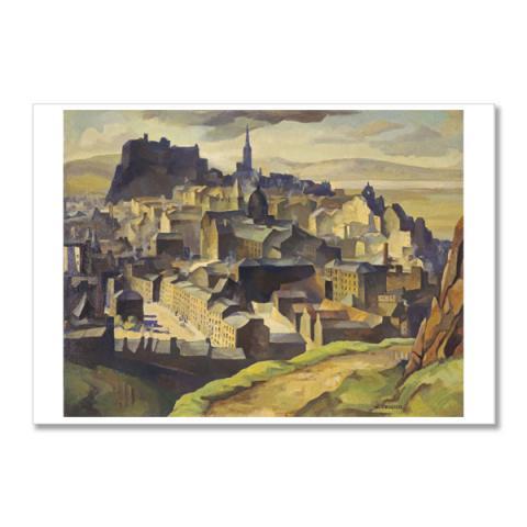 Edinburgh (from Salisbury Crags) by William Crozier A5 postcard