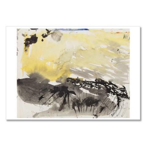 Row of Cottages, Catterline by Joan Eardley A5 postcard