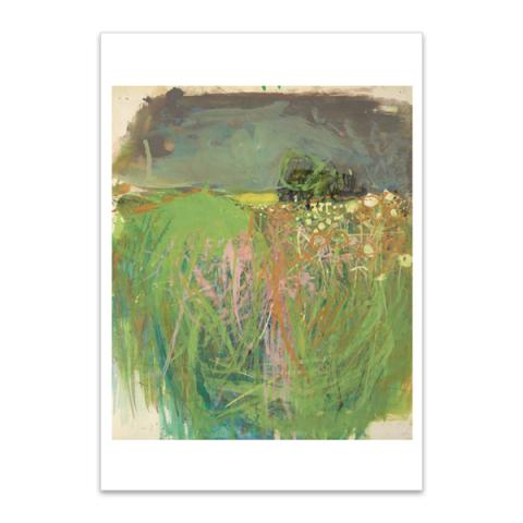 Hedgerow with Grasses and Flowers by Joan Eardley A5 postcard