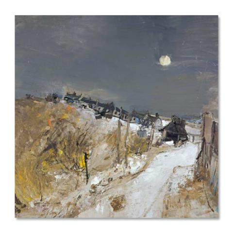 Catterline in Winter by Joan Eardley greeting card