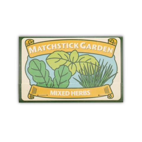Matchstick garden herbs seeds