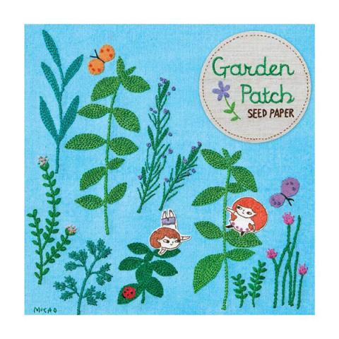 Garden patch mixed herbs seed paper