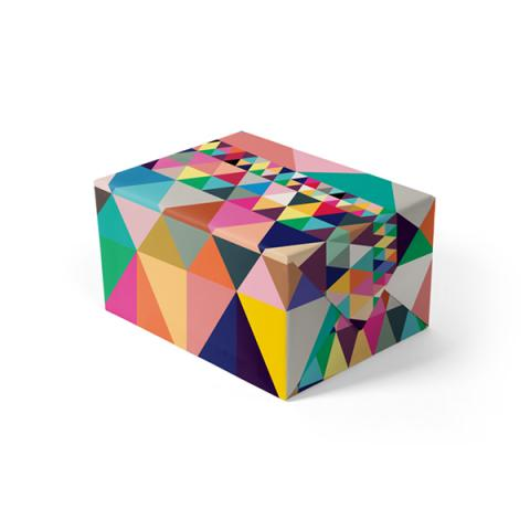 Colourful geometric gift wrap (single sheet)