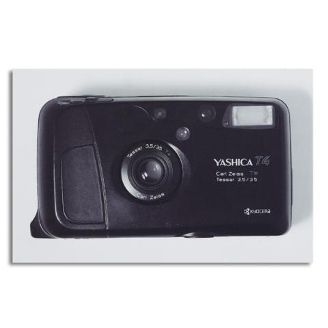 Yashica T4 vintage camera by Antony Nobilo single greeting card