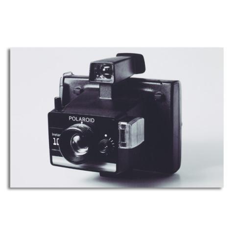 Instant polaroid vintage camera by Antony Nobilo single greeting card