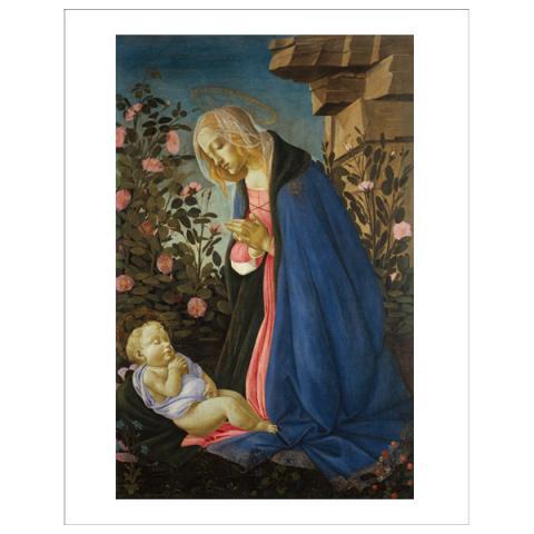The Virgin Adoring the Sleeping Christ Child Sandro Botticelli Mini Print