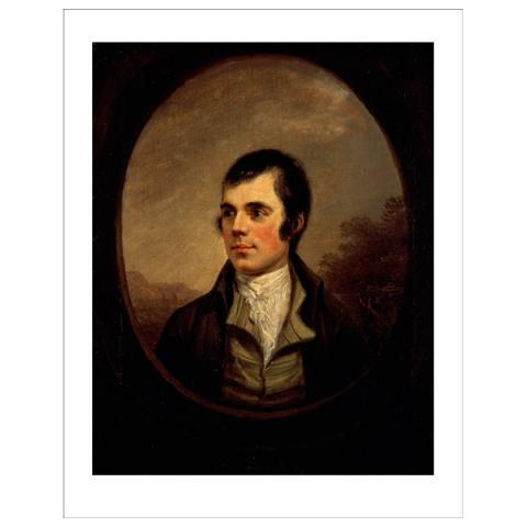 Robert Burns (oval) Alexander Nasmyth Art Print