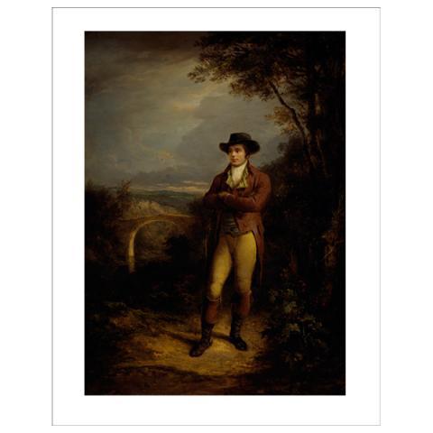 Robert Burns (standing) Alexander Nasmyth Art Print