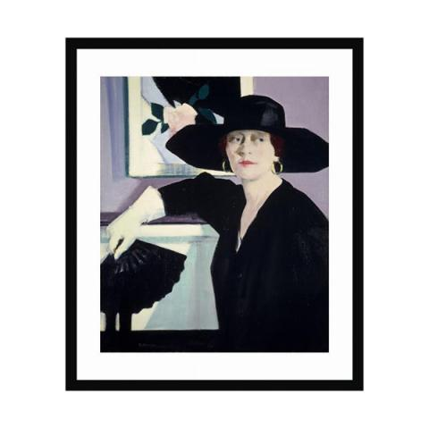 Portrait of a Lady in Black by FCB Cadell (40 x 50 cm) framed print