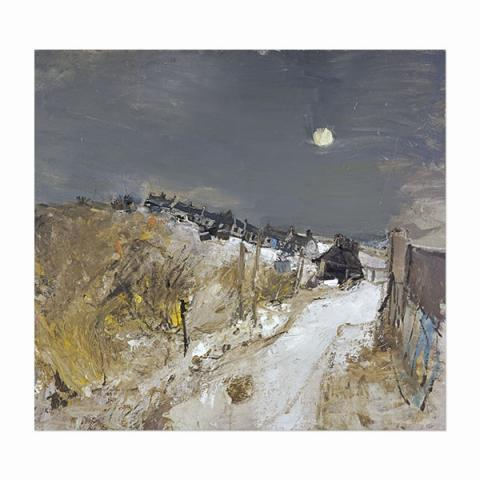 Catterline in Winter by Joan Eardley (100 cm) stretched canvas