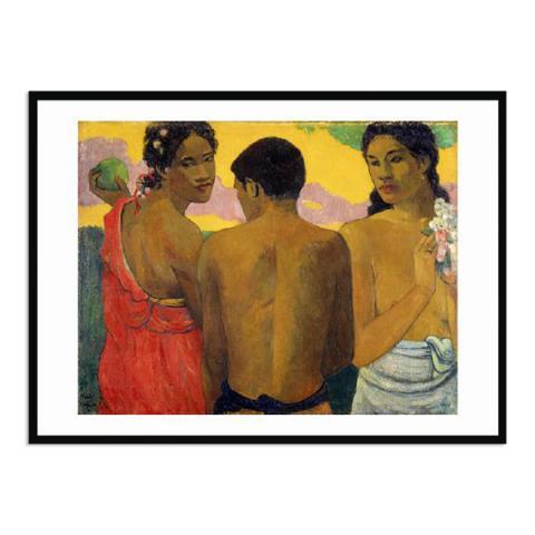 Three Tahitians by Paul Gauguin (70 x 100 cm) framed print