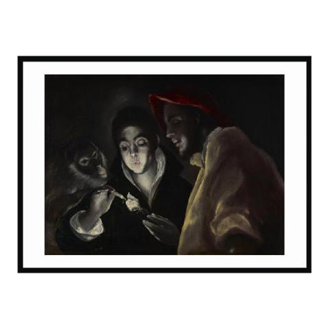 An Allegory (Fábula) by El Greco (70 x 100 cm) framed print