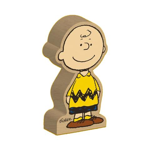 Charlie Brown Peanuts wooden block figure